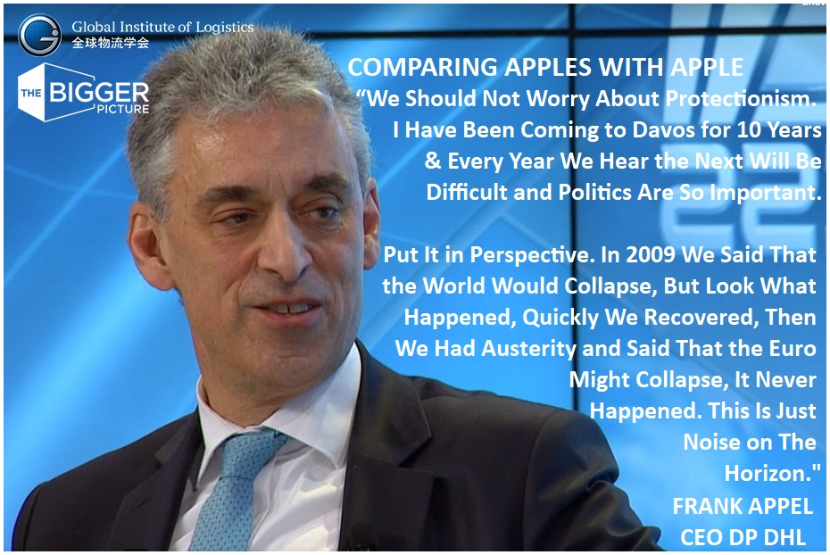 <b> FRANK APPEL DHL<br>TELLS IT LIKE IT IS AT DAVOS</b>