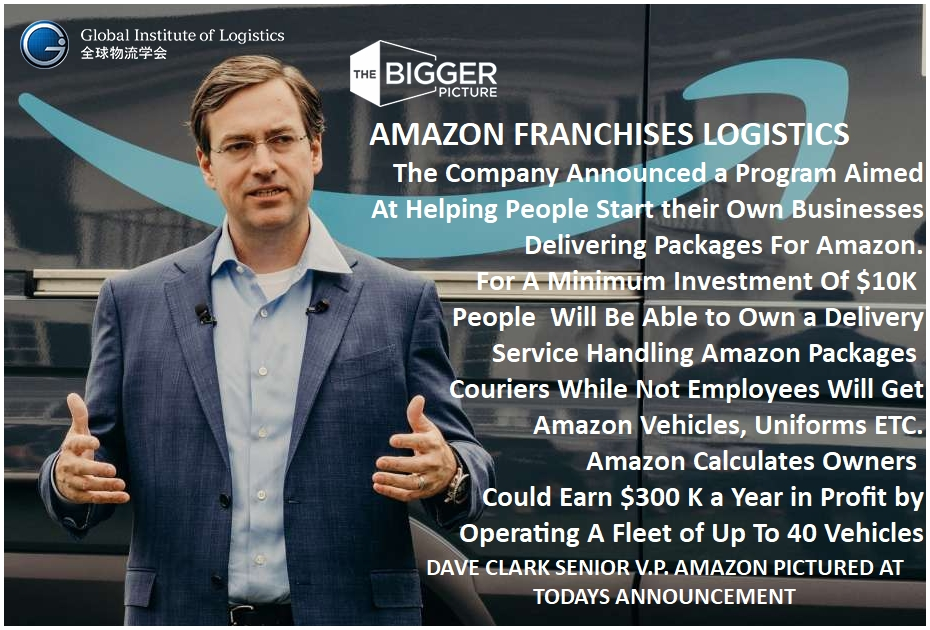 <b> STEVE CLARK<br> AMAZON FRANCHISES LOGISTICS</b>