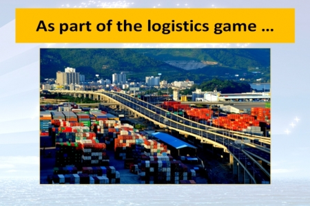 A port is part of global logistics