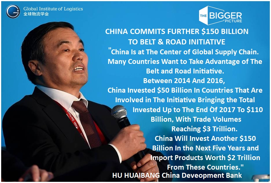<b>HU HUAIBANG<br>CHINA COMMITS $150B</b>